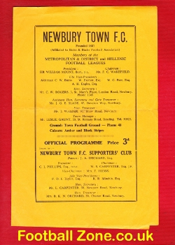 Newbury Town v Hastings United 1959 - Reserves Match
