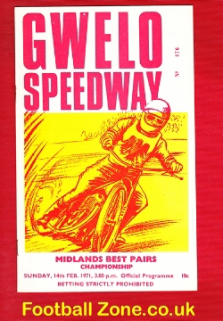 Rhodesia Zimbabwe Speedway Programme 1971 - South Africa