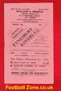 Eynesbury Rovers v Crittall Athletic 1954 - Eastern Counties