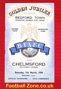 Bedford Town v Chelmsford 1959