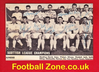 Dundee Football Team Picture Multi Autographs Champions 1961/62