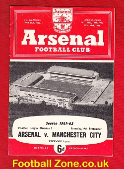 Arsenal v Man City 1961