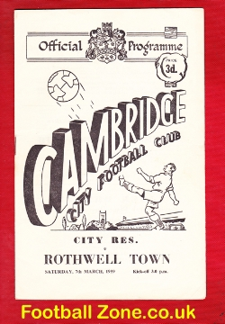 Cambridge City v Rothwell Town 1959