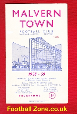 Malvern Town v Quarry Bank Celtic 1959