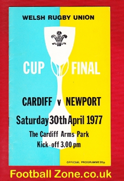 Cardiff Rugby v Newport 1977 - Rugby Cup Final
