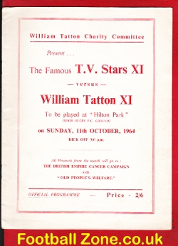 Famous TV Stars X1 v William Tatton X1 1964 - at Leigh Football