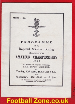 Army Imperial Services Amateur Boxing Championships 1937