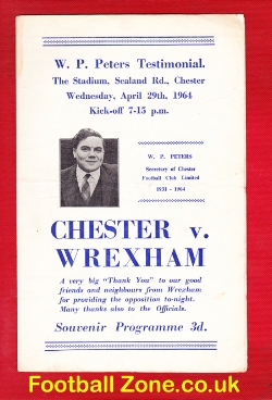 Billy Peters Testimonial Benefit Match Chester 1964