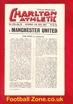Charlton Athletic v Man Utd 1950