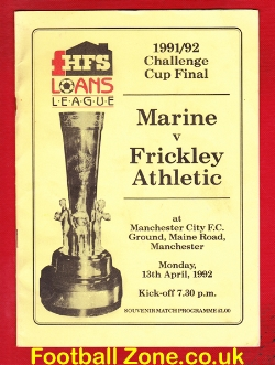 Marine Athletic v Frickley Athletic 1992 - Challenge Cup Final