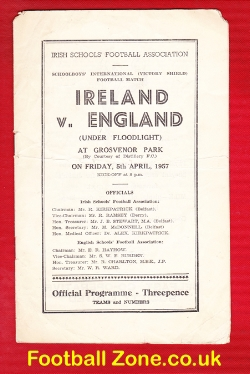Northern Ireland v England 1957 - Schoolboys at Grosvenor Park