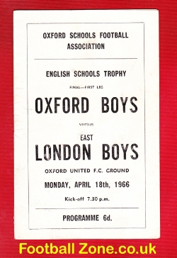 Oxford Boys v London Boys 1966 - Schoolboys Trophy