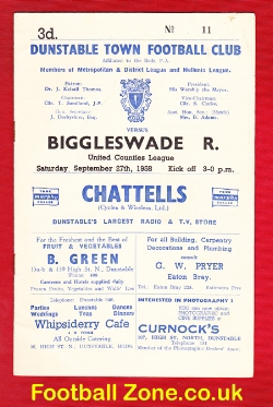 Dunstable Town v Biggleswade Rovers 1958