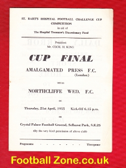 Amalgamated Press v Northcliffe Wednesday 1955 - Crystal Palace