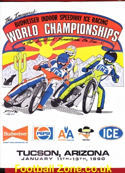 America Indoor Ice Speedway Tusin Racing Arizona USA 1990