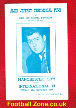 Alick Jeffrey Testimonial Benefit Match Manchester City 1972