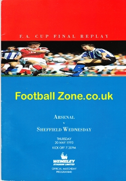 Arsenal v Sheffield Wednesday 1993 - FA Cup Final Replay - RARE