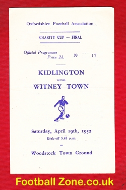 Kidlington v Witney Town 1952 - Charity Cup Final Oxford