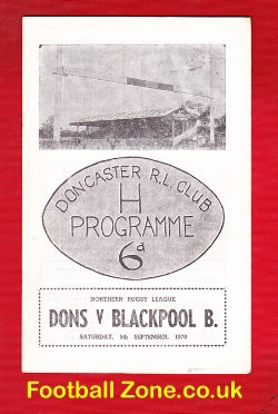 Doncaster Rugby v Blackpool Borough 1971