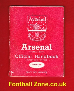Arsenal Football Club Official Yearbook Handbook 1958 - 1959