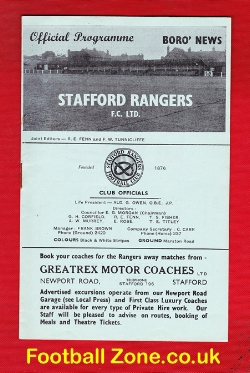 Stafford Rangers v Hyde United 1955 - Cheshire League