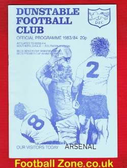 Dunstable Town v Arsenal 1983 - Friendly Match