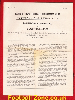 Harrow Town v Southall 1948 - Earlsmead