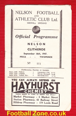 Nelson v Clithero 1947 - Seedhill Ground 1940s