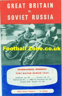 Great Britain Speedway v Russia 1965 - at Newport