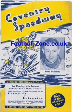 Coventry Speedway v Leicester 1953