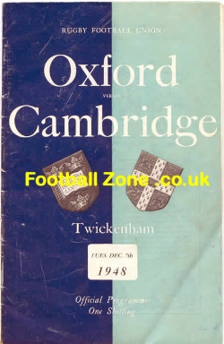 Oxford Rugby v Cambridge 1948 - at Twickenham