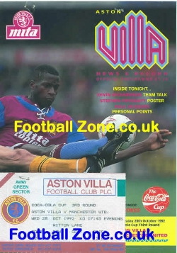 Aston Villa v Man Utd 1992 - Plus Ticket