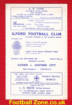 Ilford v Oxford City 1964