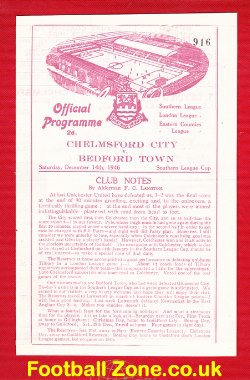 Chelmsford City v Bedford Town 1946 - Southern League