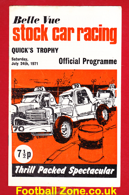 Belle Vue Stock Car Racing 1971 - Quick's Trophy