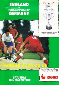 England Womens Hockey v Germany 1989 - at Wembley London