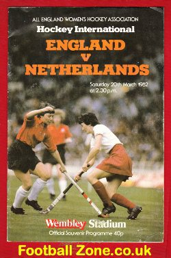 England Womens Hockey v Holland 1982 - at Wembley London