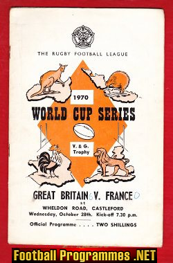 Great Britain Rugby v France 1970 - at Castleford