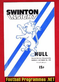 Swinton Rugby v Hull 1978