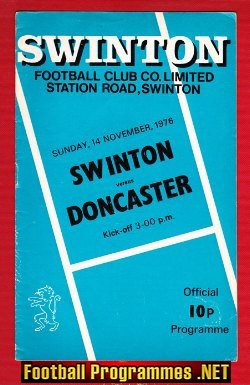 Swinton Rugby v Doncaster 1976