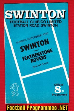 Swinton Rugby v Featherstone Rovers 1975