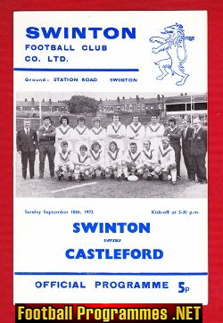 Swinton Rugby v Castleford 1972