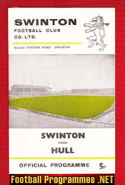 Swinton Rugby v Hull 1974