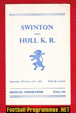 Swinton Rugby v Hull 1962