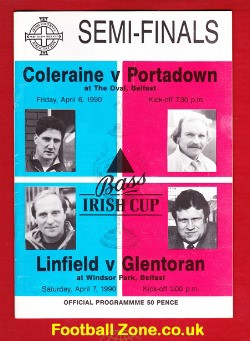 Coleraine v Portadown 1990 - Irish Cup Semi Final