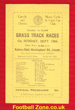 Grass Track Speedway at Lincoln 1950