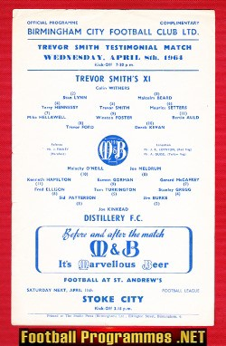 Trevor Smith Testimonial Benefit Game Birmingham City 1964
