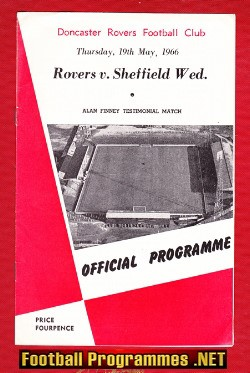 Alan Finney Testimonial Benefit Match Doncaster Rovers 1966