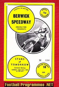 Berwick Speedway v Stars Of Tomorrow 1978