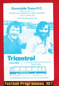 Dunstable Town v Luton Town 1975 - George Best